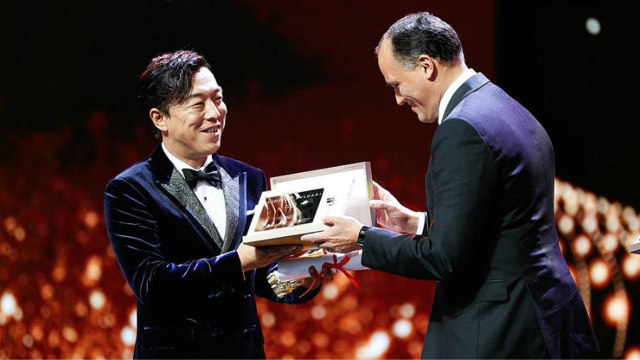 L'acteur chinois Huang Bo remporte le prix du Meilleur acteur au 20e Festival du film de Shanghai