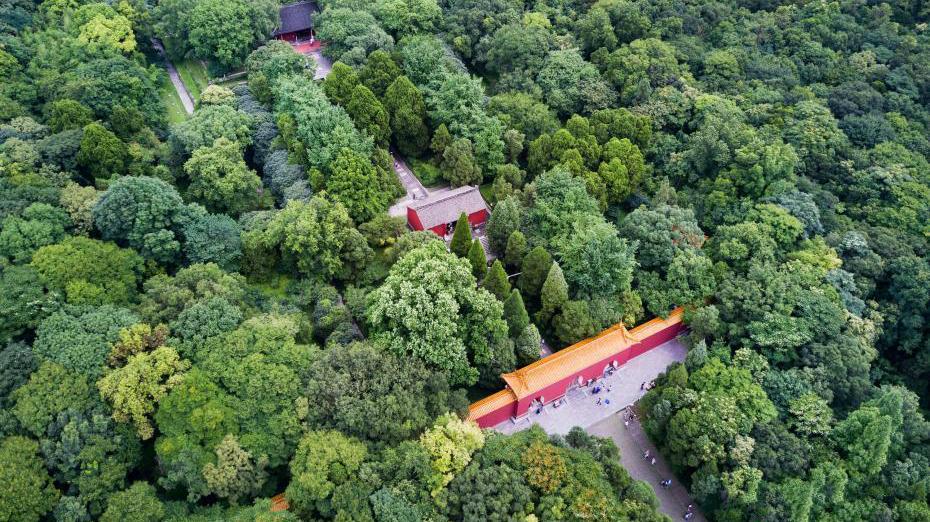 Photos aériennes du tombeau Xiaoling à Nanjing