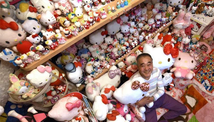 Un Japonais fan de Hello Kitty depuis 35 ans