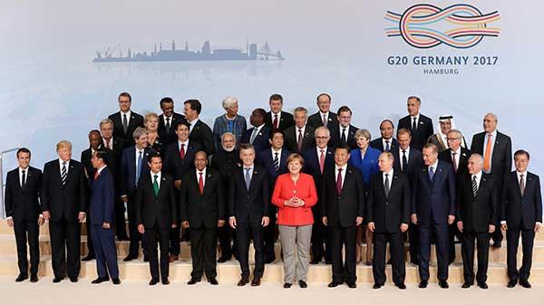 Les dirigeants du G20 discutent de gouvernance mondiale au Sommet de Hambourg