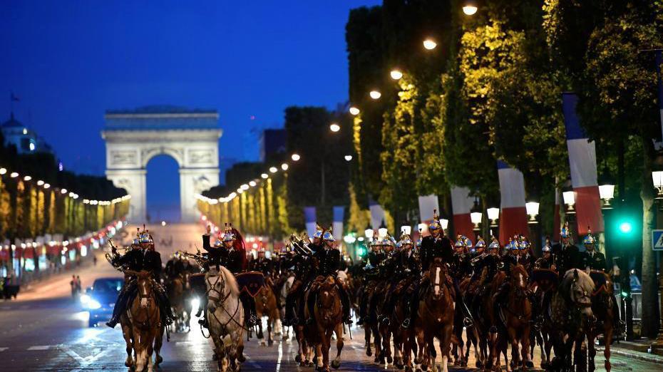 Photos des répétitions du défilé du 14 juillet à Paris