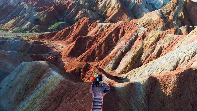 Gansu : les beaux paysages du relief Danxia à Zhangye