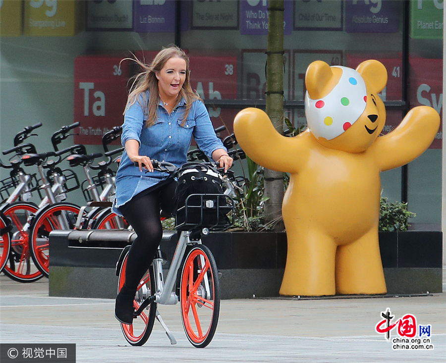 Les vélos partagés Mobike appréciés à Manchester