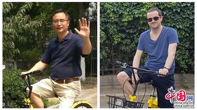 Un rédacteur chinois et un jeune français parlent à bâtons rompus des vélos partagés
