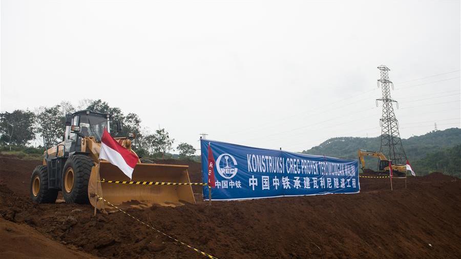 Début des travaux du tunnel de Walini sur la ligne TGV Jakarta-Bandung