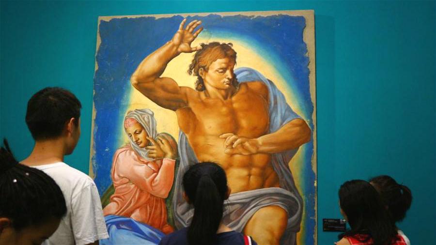 Ouverture d'une exposition d'art consacrée à Michel-Ange à Beijing