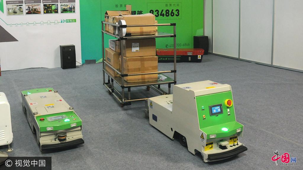 Des robots de manutention au salon biame for Salon de la manutention