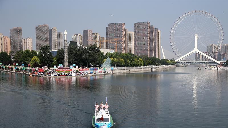 13e Jeux nationaux de Chine : ouverture de la cérémonie de collection de la flamme