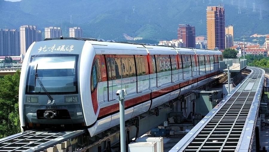 Début des essais du premier train maglev de Beijing
