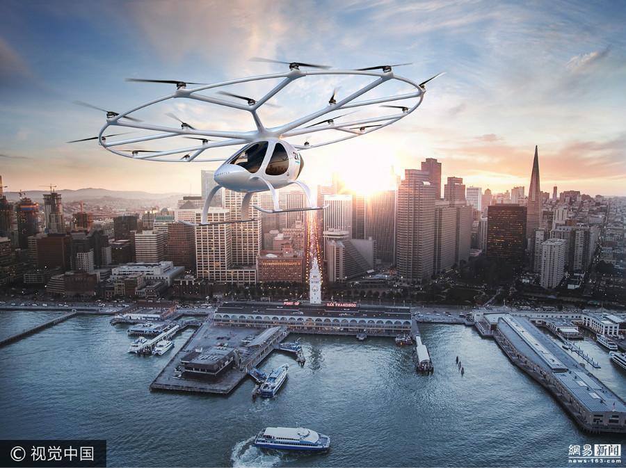 Dubaï va accueillir le premier taxi volant et autonome Volocopter