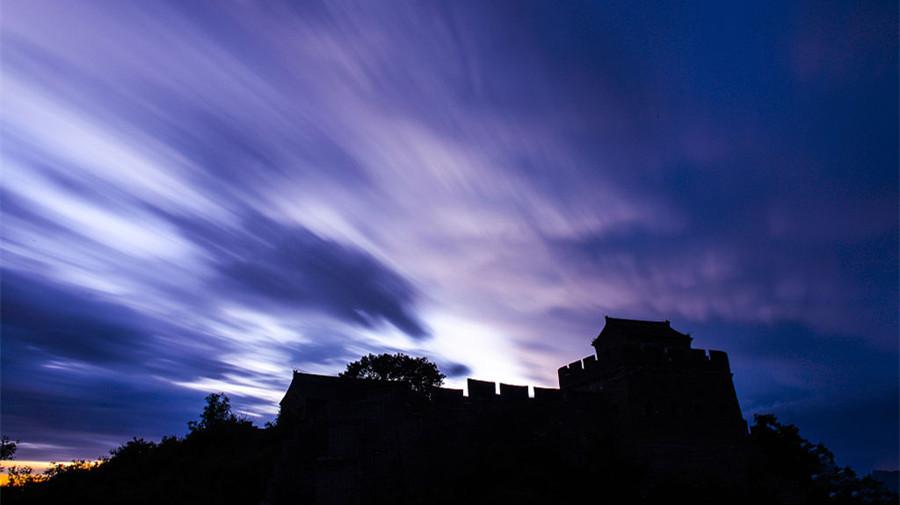 Galerie : le coucher de soleil à la Grande Muraille à Jinshanling
