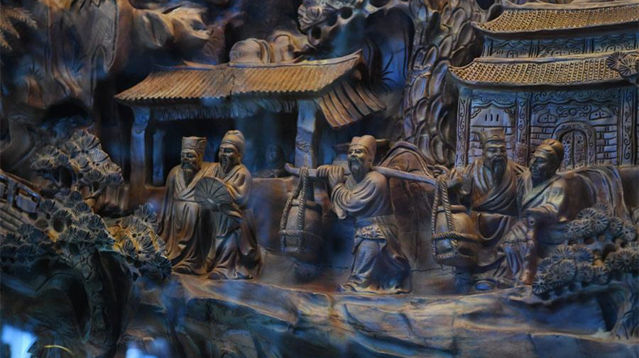 Expo à Taiyuan d'une célèbre ancienne œuvre de sculpture en bois