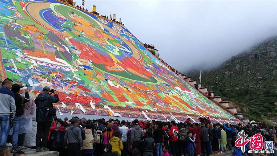 Début du Festival de Shoton 2017 au temple Zhebang à Lhassa