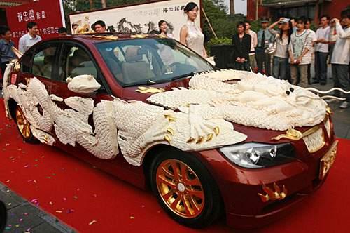 Luxus auto mit elfenbeinmotiven debütiert in guangzhou