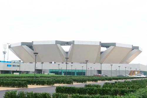 Das Tenniszentrum im Olympiapark
