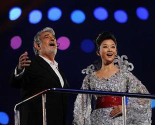 Placido Domingo und Song Zuying singen 'die Liebesflamme'