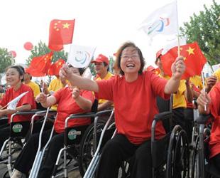 Paralympisches Feuer in Shanghai