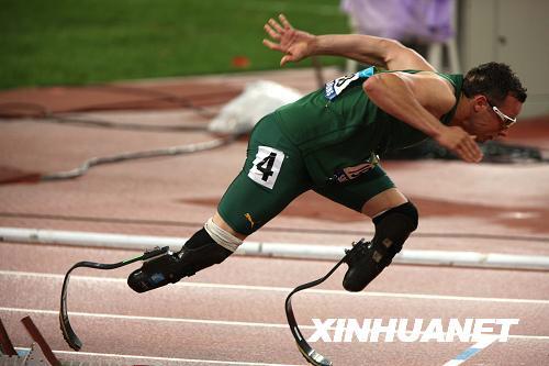 Blade Runner,Oscar Pistorius,Weltrekord,Spezialstrecke,Paralympics,,400,Meter,schnellste Mann ohne Beine ,Südafrika