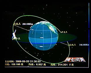 Am Freitag um 04.05 Uhr Beijinger Zeit hat das Raumschiff Shenzhou 7 seine Umlaufbahn erfolgreich angepasst. Somit l?uft Shenzhou 7 auf einer runden Umlaufbahn statt einer elliptischen. Das Raumschiff soll nun Planungen zufolge in einer H?he von 343 Kilometern im Orbit kreisen.