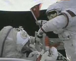 Chinas erster Raumspaziergang erfolgreich