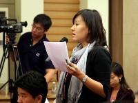 Journalistin der Hong Konger Zeitung Wen Wei Po
