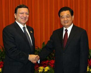 Der chinesische Staatspr?sident Hu Jintao hat am Donnerstag in Beijing den Pr?sident der EU-Kommission, José Manuel Barroso, empfangen.