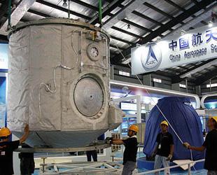 Raum- und Landekapsel von 'Shenzhou 7' werden ausgestellt