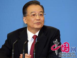 Wen Jiabao stellt sich den Fragen der Journalisten