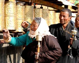 Ein sonniges und ruhiges Wochenende in Lhasa
