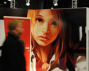 Eine Ausstellung chinesischer Manhua oder Comics mit Namen 'Beijing, zehn Gesichter einer Stadt' wurde gestern auf der Frankfurter Buchmesse gestartet.
