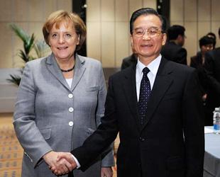 Chinas Ministerpräsident Wen Jiabao hat am Donnerstag in Kopenhagen den britischen Premier Gordon Brown, die deutsche Bundeskanzlerin Angela Merkel und den japanischen Ministerpräsidenten Yukio Hatoyama zu Gesprächen getroffen.