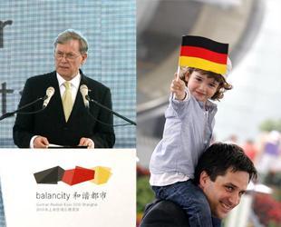 Am Mittwoch wird auf dem Expo-Gelände in Shanghai der deutsche Nationentag gefeiert. Der deutsche Bundespräsident Horst Köhler sowie der Leiter des Exekutivausschusses der Shanghaier Expo, Yu Zhengsheng, nahmen dazu an einer Feierstunde teil.