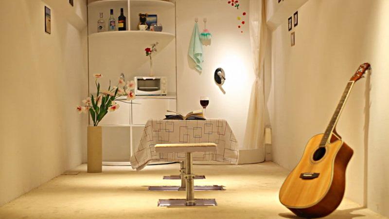 china intelligente containervilla gem tliches leben auf neun quadratmetern. Black Bedroom Furniture Sets. Home Design Ideas