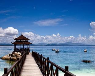 Die Insel Wuzhizhou in der Haitang-Bucht nördlich von Sanya, wird als Bucht unter der Sonne bezeichnet. Sie ist eine der seltenen Inseln mit Frischwasser in Hainan. Es gibt dort über 2.000 Pflanzenarten, darunter den seltenen Drachenbaum.