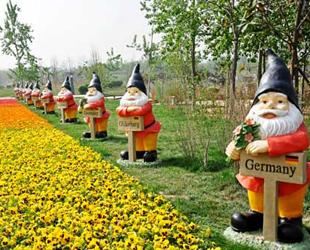 Am Donnerstag ist die internationale Gartenbauausstellung 2011 in Xi'an eröffnet worden. Allein am ersten Tag kamen bereits 46.000 Besucher.