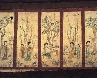 Eine Gruppe von sechs gut erhaltenen Fresken einer 1000 Jahre alten chinesischen Schönheiten wird momentan auf der Internationalen Gartenausstellung in Xi'an, Hauptstadt der nordwestlichen Provinz Shaanxi, ausgestellt.