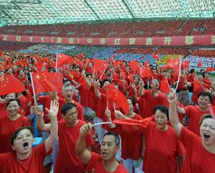 Das 'Konzert der chinesischen revolutionären Gesänge 2011 (Chongqing)' wurde am Mittwoch im Olympischen Stadion in der südwestchinesischen, regierungsunmittelbaren Stadt Chongqing eröffnet.
