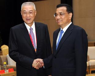 Heute um 9.15 Uhr empfang der chinesische Vizeministerpräsident Li Keqiang die Delegation von Taiwaner 'Cross Straits Commen Market Foundation'.