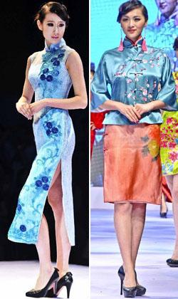 Der 6. Mai war der Tag der Qipao im Rahmen der Internationalen Modewoche 2012 in Qingdao. Models zeigten auf der Bühne elegante Qipaos.