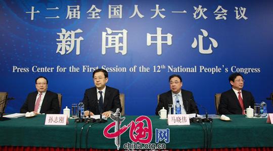 Am Nachmittag um 15 Uhr wird im Mediacenter Hotel die Pressekonferenz zum Thema 'Reform des Gesundheitssystems' im Rahmen der 1. Tagung des 12. Nationalen Volkskongresses (NVK) stattfinden.