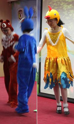 Im Folgenden ist eine Bilderserie für das Theater, gespielt von Schülern aus der Beijing Zhichunli Grundschule.