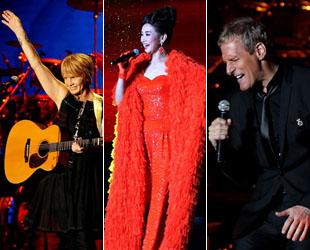 Neun Grammy-Gewinner, unter ihnen Leo Sayer, Richard Marx und Michael Bolton, waren am Samstagabend mit von der Partie beim Grammy All-Stars Concert in Chengdu in der Provinz Sichuan.