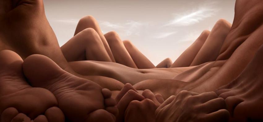 leben nackt surreal