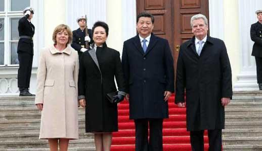 Xi Jinping trifft mit Bundespräsident Gauck zusammen