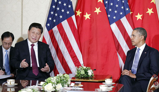 Gespräch zwischen Xi Jinping und Obama in Den Haag