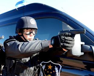 Chinesische und Russische Polizisten nahmen am 20. Oktober an einer gemeinsamen Anti-Terror-Übung in Manzhouli, einer Grenzstadt der Inneren Mongolei in Nordchina, teil.