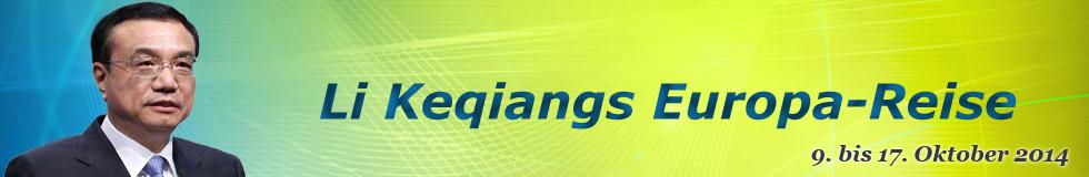 Li Keqiangs Europa-Reise