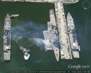 Vor kurzem hat die russische Website für Militärbeobachtung eine Fotoserie von Google Maps veröffentlicht, auf denen die militärische Ausrüstungen und Stationierungen Japans zu sehen sind.