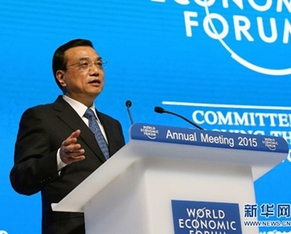 Li Keqiang erl?utert in Davos Chinas aktuelle Wirtschaftspolitik