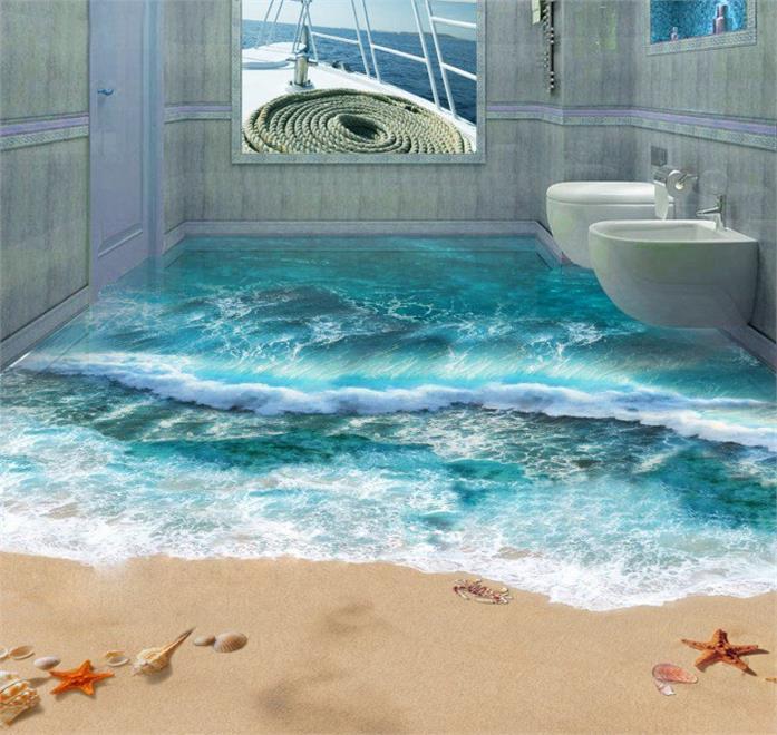 3d boden bietet wow effekt im badezimmer